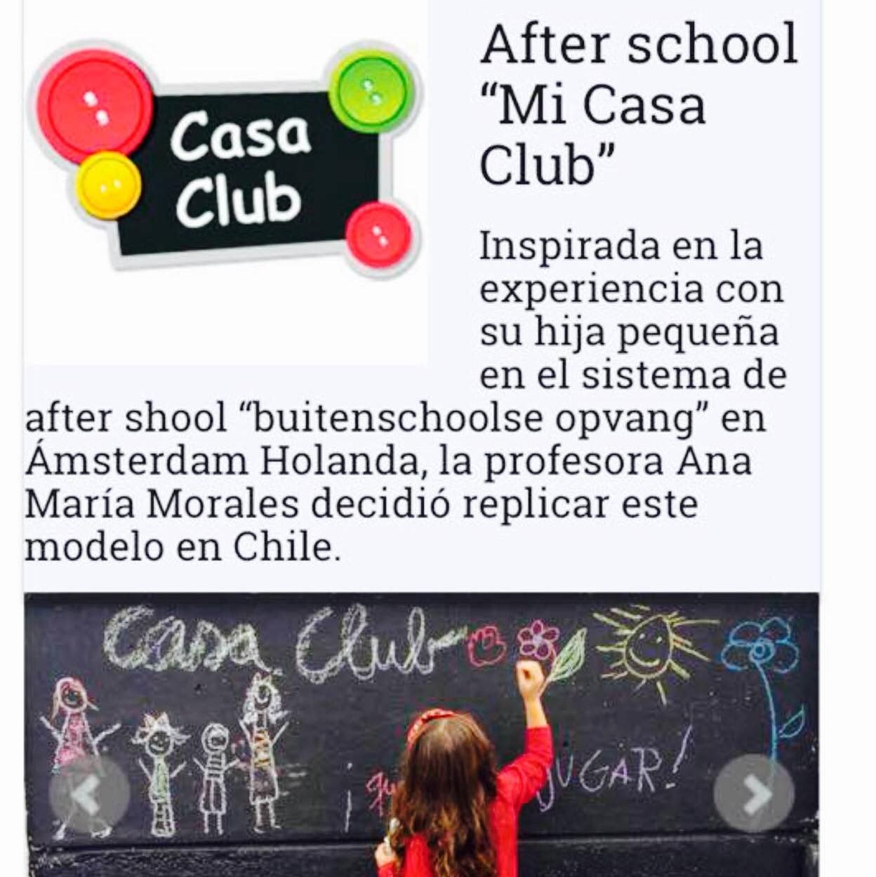 Reportaje de Casaclub en portal para niños